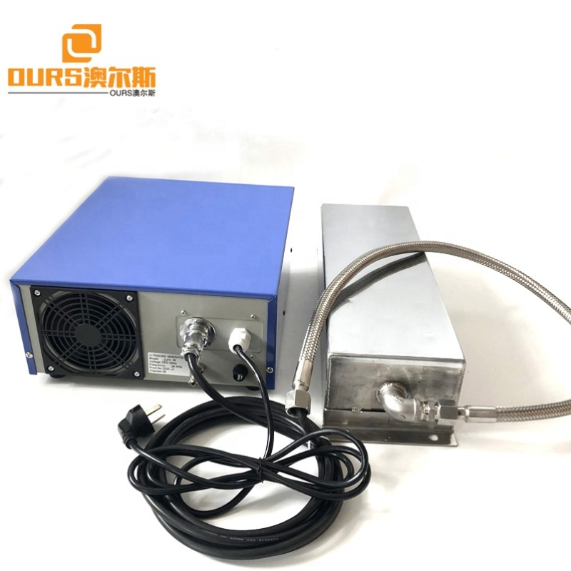 68KHZ 1200W High Frequency Submersible Ultrasonic Transducer Cleaning System With Generator For Industrial Automatic Cleaner
