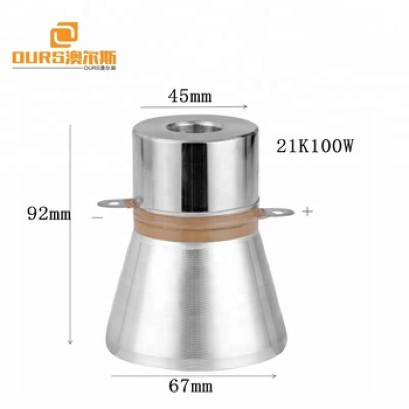 25khz 28khz China supplier washing machine parts 60w 100w transducer ultrasonic washing transducer