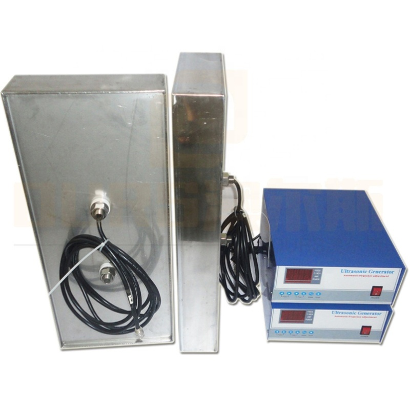 Multi Frequency Underwater Immersible Ultrasonic Transducer Pack With Ultrasonic Power Unit 40K/80K/100K For Industrial Cleaning