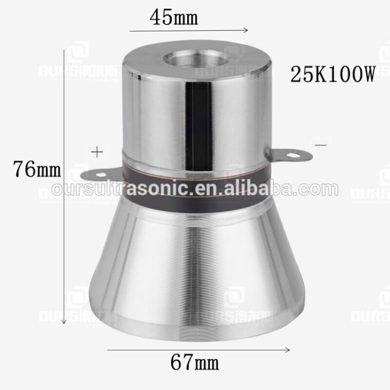 Piezoelectric 25khz washing Ultrasonic Transducer Manufacturer supply