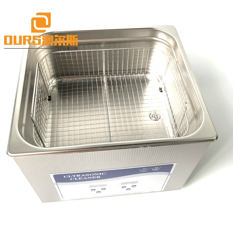 15L CE Ultrasonic Transducer Bath Sonicator With SUS Basket For Lab Hospital Industry  Industrial Ultrasonic Vibration Cleaner
