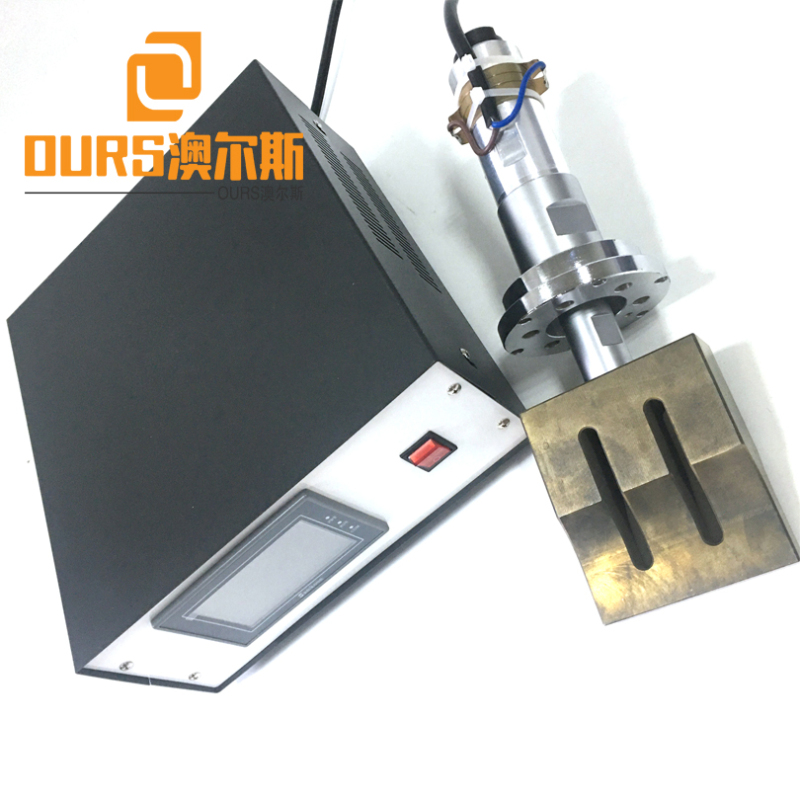 15KHZ/20KHZ CE certificated  ultrasonic welding generator and transducer with booster  for ultrasonic mask loop welding machine