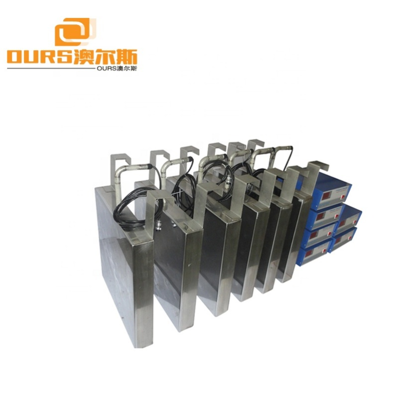 1200W 40KHz 28KHz Immsersible Ultrasonic Transducer Plate With Generator