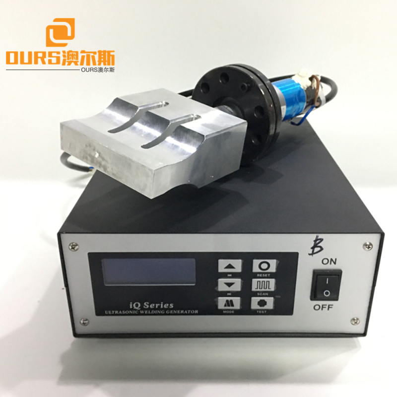 15khz Ultrasonic welding power generator and transducer with 200*20mm horn  for non-woven welding machine 2600w
