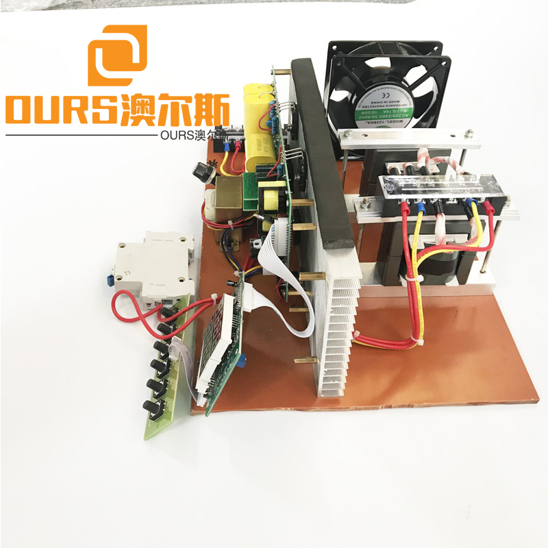 Frequency And Power Adjustable Ultrasonic Generator PCB No Lid 600W-2400W For Ultrasonic Cleaning Equipment