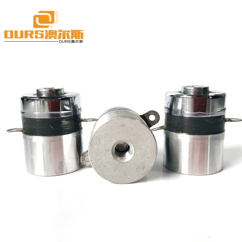 High Frequency Piezoelectric Ultrasonic Transducer 100KHz 60W Used To Industrial Ultrasonic Cleaner