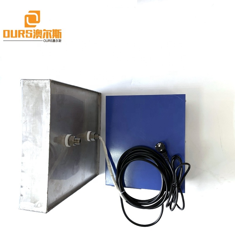 28KHZ 316L Stainless Steel Ultrasound Submersible Oscillator Converter Plate Used For Printer Nozzle Oily Toner Cleaning
