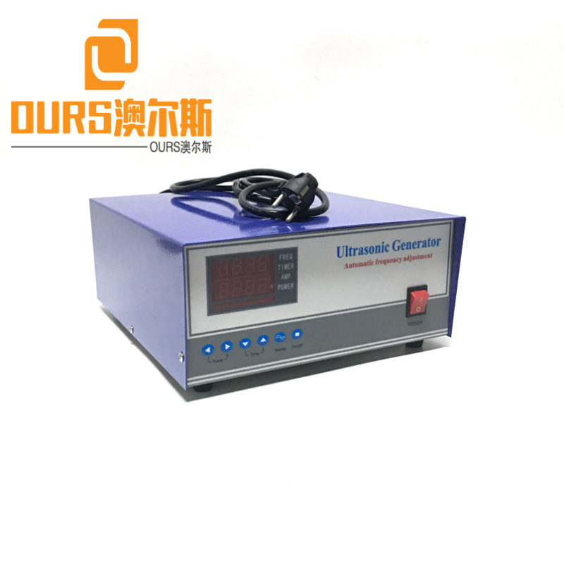 28KHZ  300W-3000W 110V or 220V Digital Ultrasonic Generator With Timing Function For Cleaning Plastic Parts