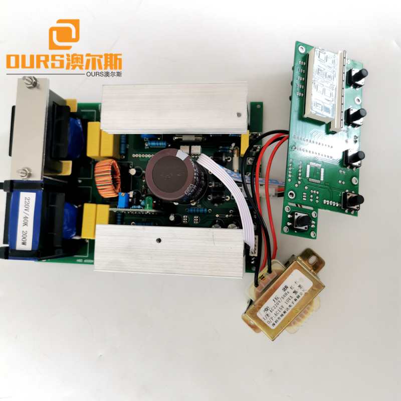 500W 40K  Ultrasonic piezo sensor Generator used for industry washing device with display board
