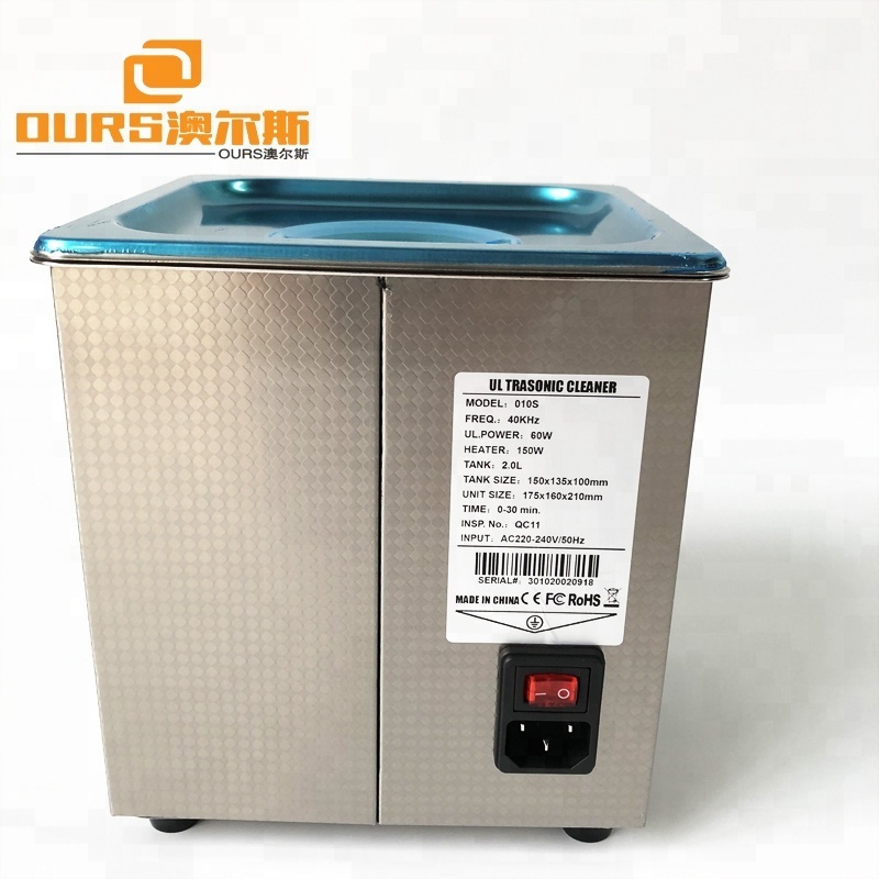 Industry Capacity  2Liter Heating 150Watt Piezoelectric Ultrasonic Cleaner for Eyeglasses And Jewelry