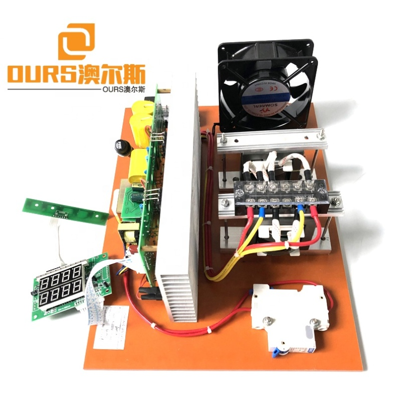 Low Frequency 17K-20K Ultrasonic Cleaner Generator PCB Transducer Driving Circuit Board 1000W 220V With Power&Time Adjustable