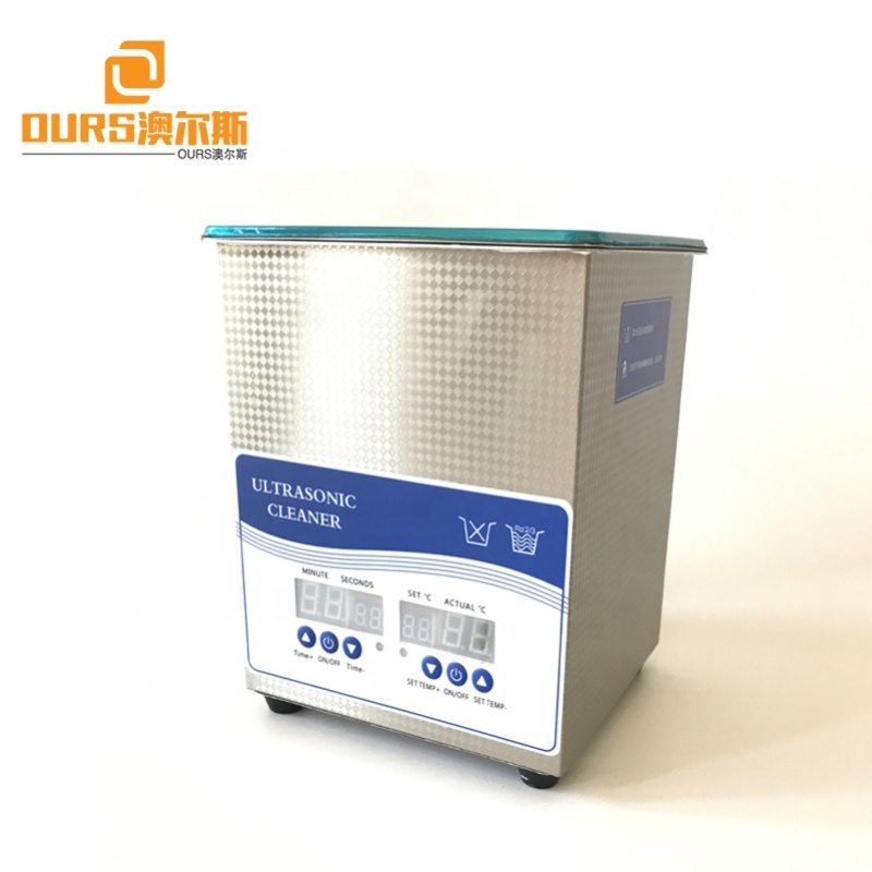 2L 50W Stainless Steel Commercial Ultrasonic Cleaner Digital Timer Heater for Jewelry Watch Eyeglasses Rings Dental Lab