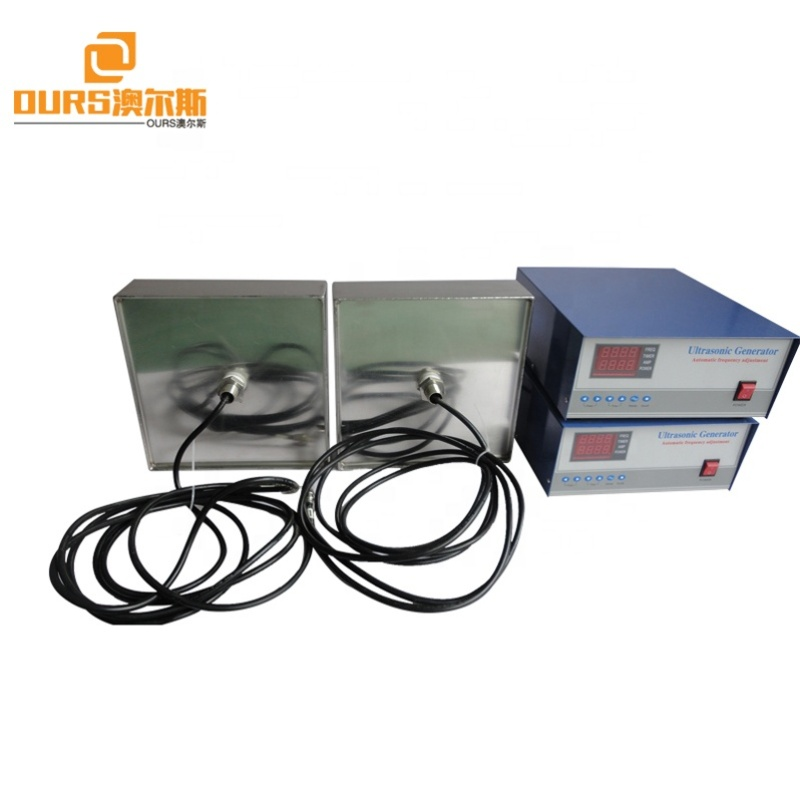 90Khz 1000W Cleaning Immersible Ultrasonic Transducer In Sealing Metal Box