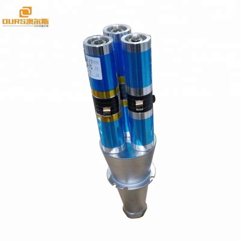 2600W15khz ultrasonic welding transducer with booster,shaped non-woven welding ultrasonic transducer