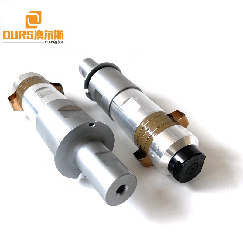PZT8 Material Ultrasonic Welding Converter Energy Parts  20K 2000W For Manufacture Welder Making Non-Wove Bag Ear Loop