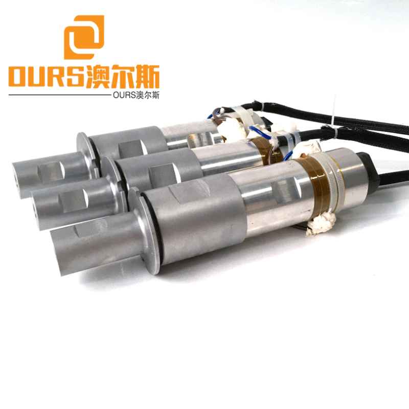 1000W 20khz PZT4 Or PZT8 Solid Mount Ultrasonic Welding Transducer For Welding Thermoplastic Sheet