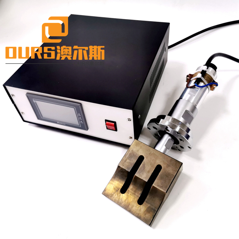 2000w ultrasonic welding generator use in Brazil PFF2 mask-machine 20khz transducer and 200*20mm steel horn