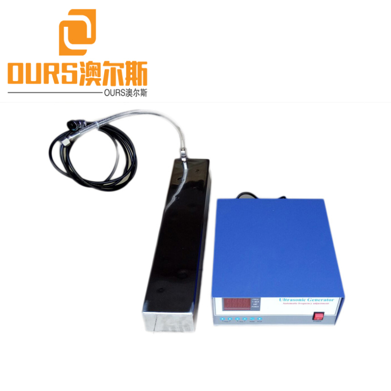 90KHZ High Frequency Sweep Generator Control Immersible Ultrasonic Transducer For Cleaning Industrial Parts