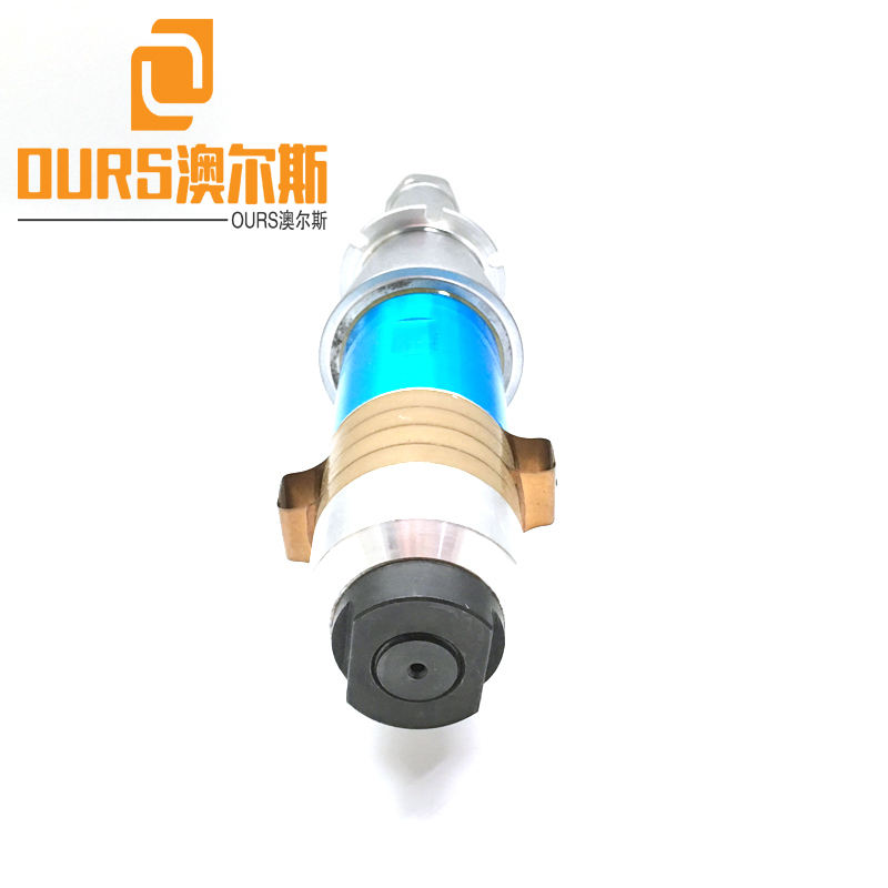 15KHZ PZT8 Solid Mount Ultrasonic Welding Transducer For 2600W Plastic Welding Machine