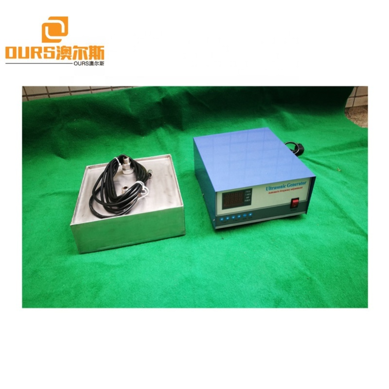 28KHZ 3000W Immersible Ultrasonic Transducer Pack Waterproof Ultrasonic Cleaner Plate For Heavy Duty Oil Removing
