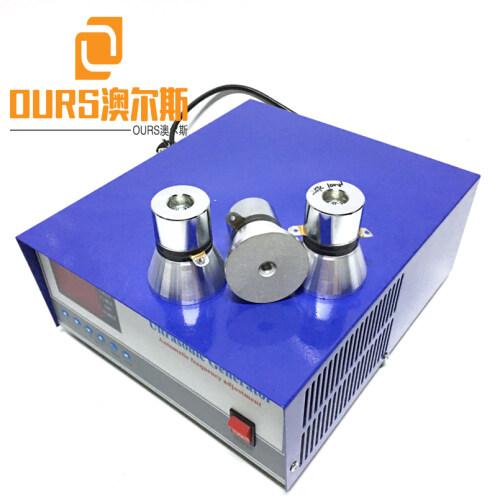 Adjustable 20KHZ-40KHz  Piezoelectric Digital Ultrasonic Generator Drive 2400W For Machining Washing Industry Parts