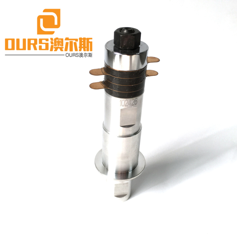 28khz 600W PZT8 Ultrasonic Welder Transducer With Booster For Ultrasonic Cutting / Sealing