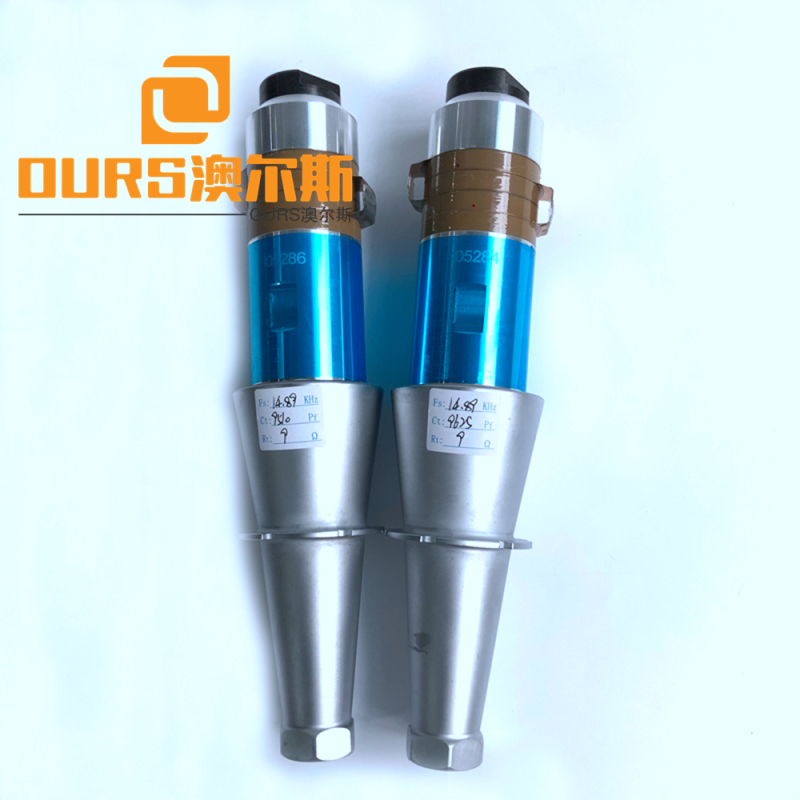 2000w 20khz Ultrasonic Transducer With Titanium Booster r for zipper plastic bag machine