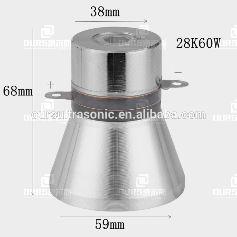 28K 60W Cleaning System Piezoelectric Ultrasonic Cleaning Transduce