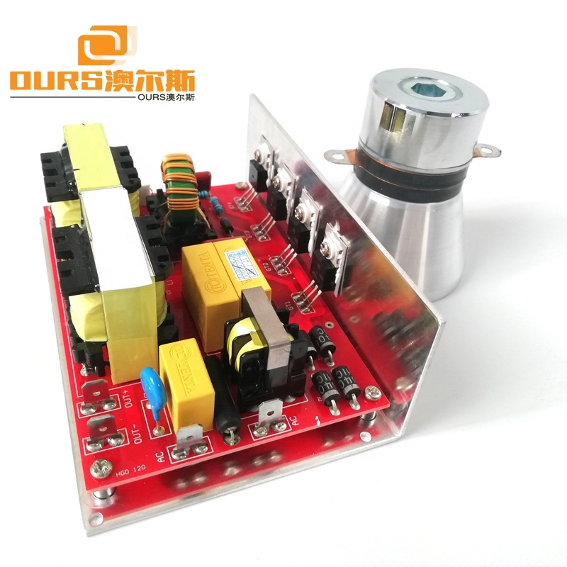 110V/220V Ultrasonic Generator Circuit Board 40KHz 60W With 1 PCS Vibrator For Cleaning And Washing