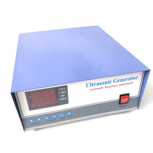 Steel Material High Frequency /Power Ultrasonic Generator Water Cleaning Tank Digital Generator 1200W Cleaner Generator Box