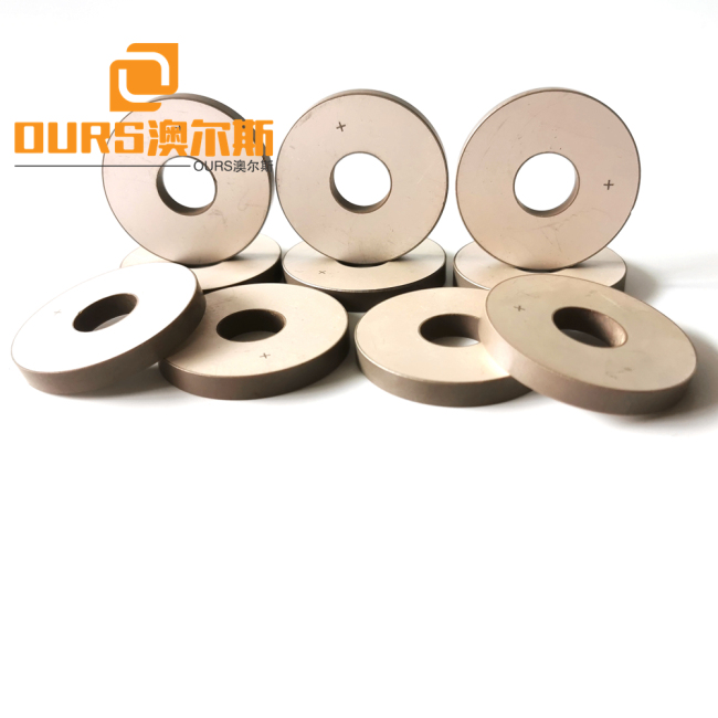 25*10*4mm pzt4 or pzt 8 Ceramic Piezoelectric Rings For Ultrasonic Sensor