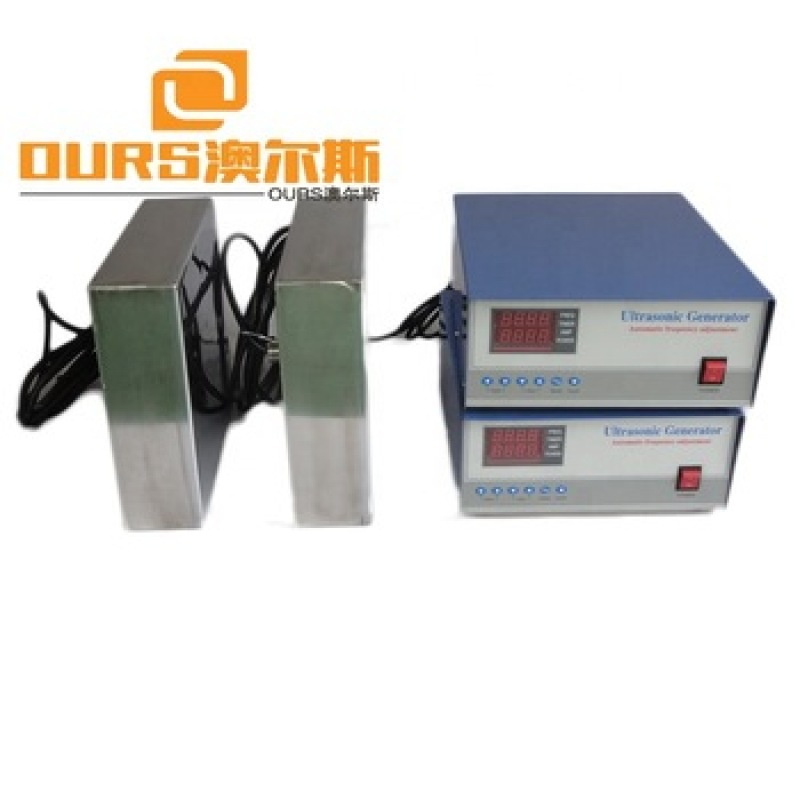 28KHZ 5000W Stainless Steel 316L Submersible Ultrasonic Transducer Box For Injector Engine Auto Parts