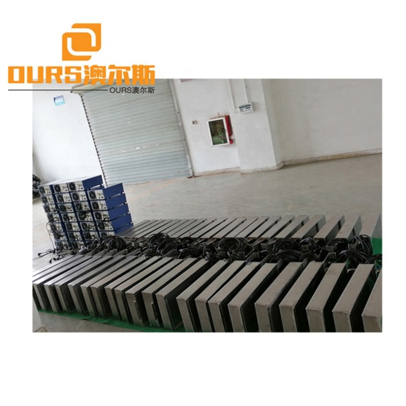 Industry Digital High Washing Speed Underwater Ultrasound Radiator Pack And Driving Generator Installed In Cleaner Bath