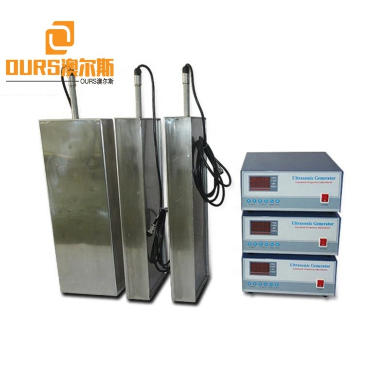 SS316 Material Industrial Auto Parts Cleaner 28K 2400W Submersible Ultrasonic Water Transducer Plate With Electroplating Surface