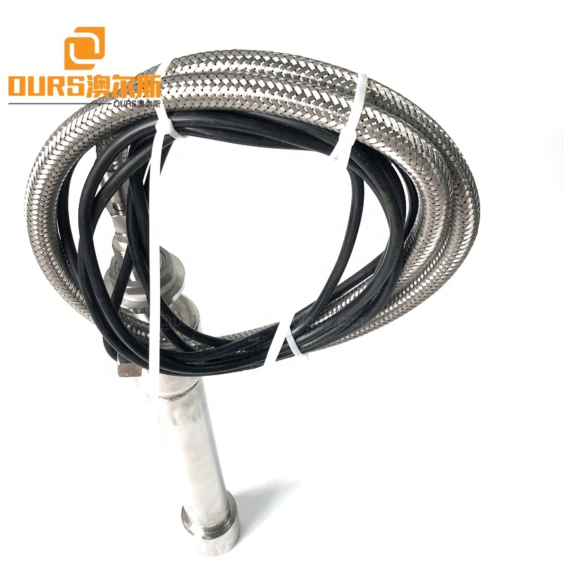 Food/Chemical Industry Homogeneous Mixing Instrument Ultrasound Round Tubular Transducer Stick 500W Submersible Tube Reactor