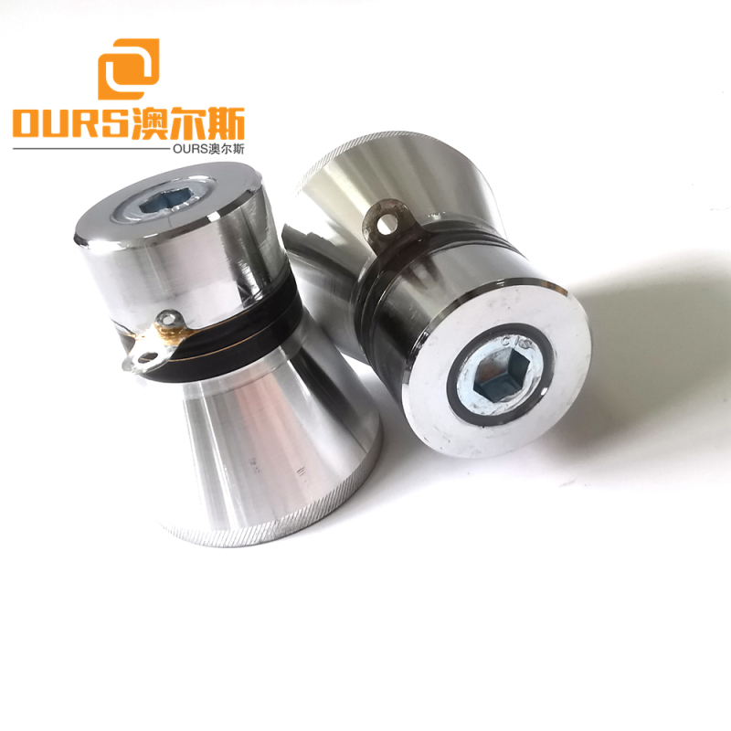 28khz 60w pzt4 Ultrasonic Cleaning Transducer Low Frequency For Cleaning of Research Containers/Glass Spiral Tubes