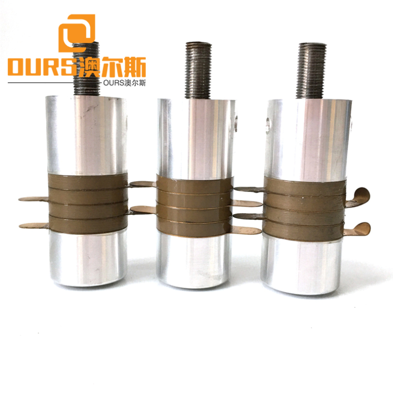 High Frequency 35KHZ 900W PZT8 Ultrasonic Piezoelectric Welding Transducer For Plastic Welding Machine