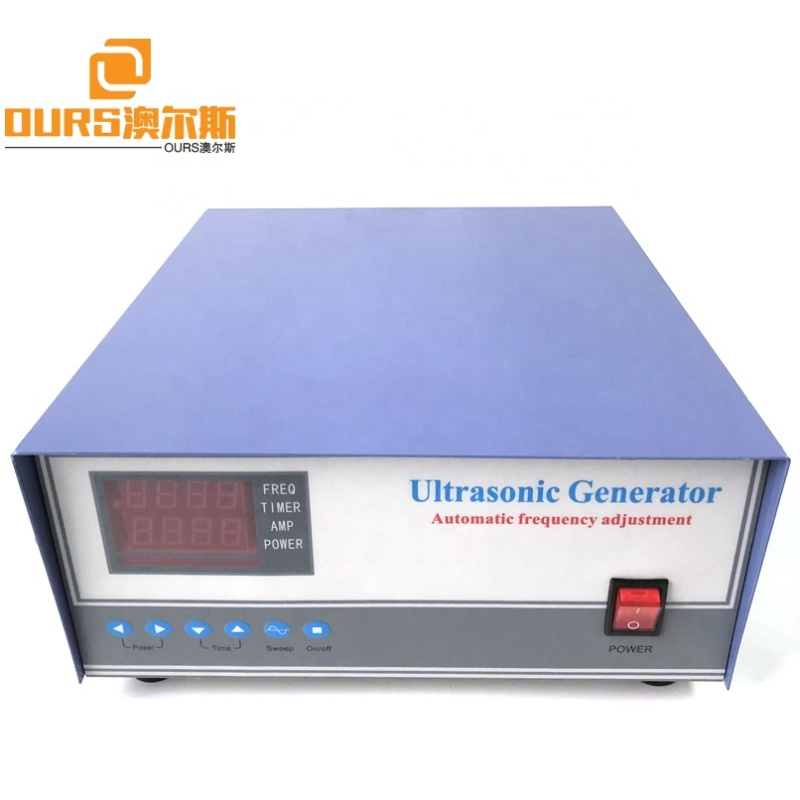 Immersible Industrial Cleaner Ultrasonic Generator Ultrasonic Vibration Cleaning Generator 1500W With Sweep Function 17K-40K