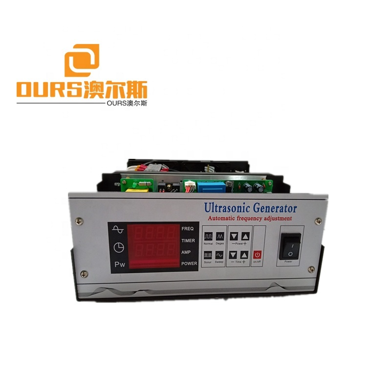 1200w  Multifunction Ultrasonic Generator for ultrasonic cleaning 120-135khz high frequency adjustable