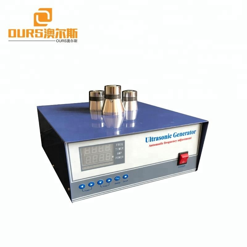 Frequency Adjustment Digital Ultrasonic vibration Generator for Cleaning 2000w