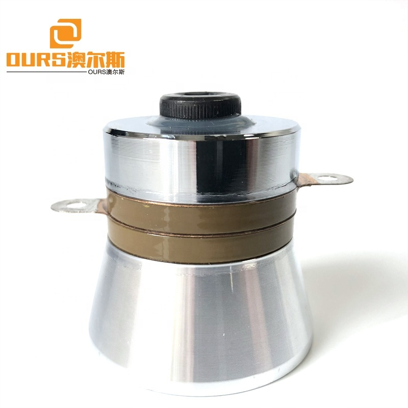 PZT8 Piezoelectric Material 40KHZ Frequency Ultrasonic Signal Transducer Ultra Wave 60W Output Cleaning Ceramic Transducer
