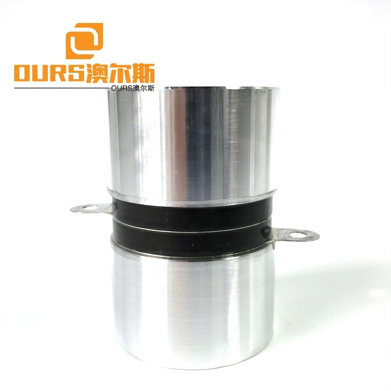 High Frequency 120KHZ Piezelectric Ceramic 60Watt Ultrasound Converter For Industrial Cleaning Reactor Warranty 1 Year