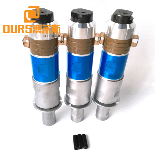 1800W 20khz Heat Resistance Ultrasonic Welding Transducer With Booster For Welding  Communication Equipment
