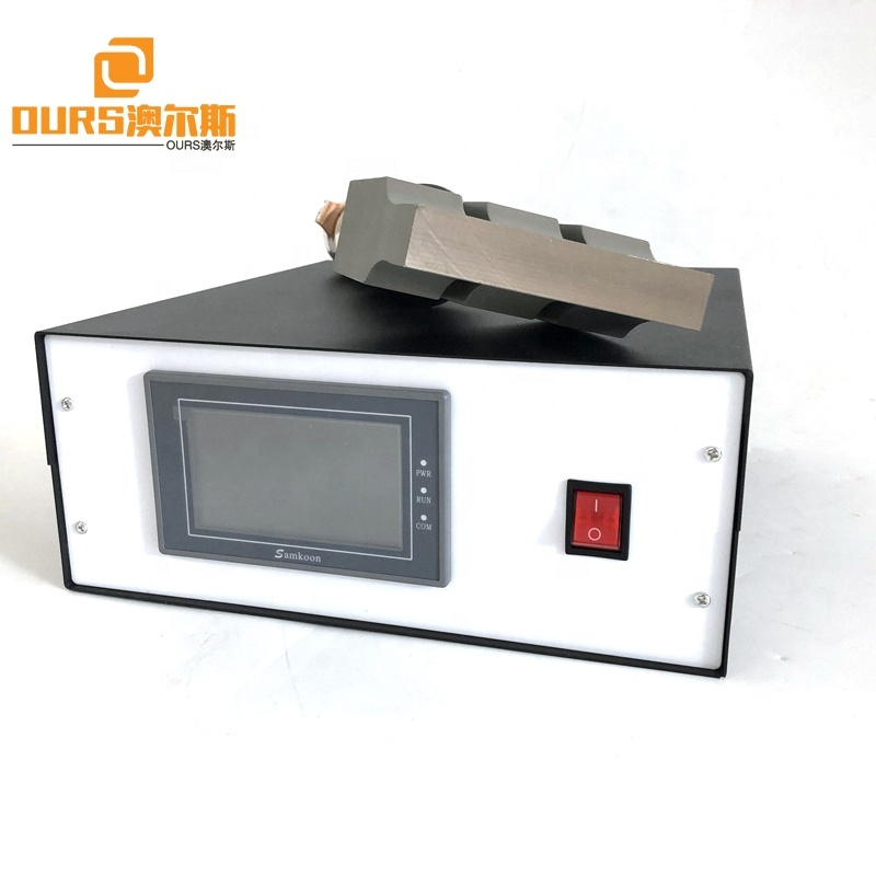 2000W 20KHz Ultrasonic Welding Transducer With Booster Aluminum Welding Horn And Generator For Mask Sealing