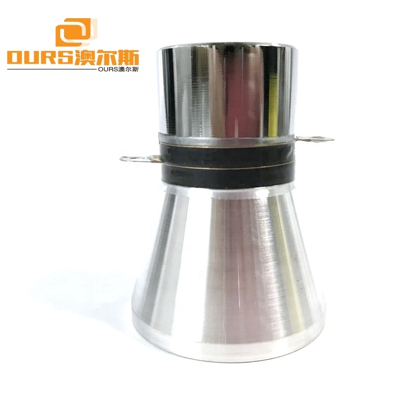Piezoelectric Ceramic Ultrasonic Transducer 25KHz 60W Ultrasonic Oscillator For Industrial Parts Cleaning