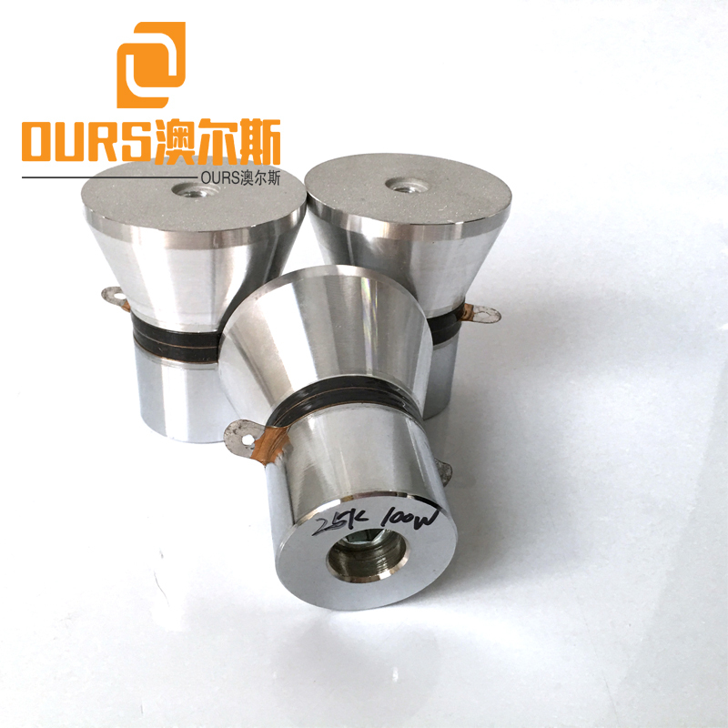 25KHZ 100W PZT-4 OURS Product low power ultrasonic piezoelectric cleaner transducer