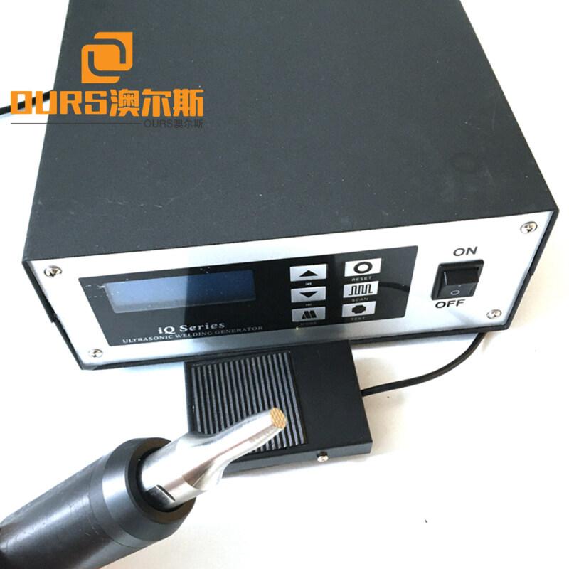 28Khz 1000W  Handheld  Tpye with Titanium Welding Horn Ultrasonic Spot Welder For Welded Car Seat Belt Locking Device