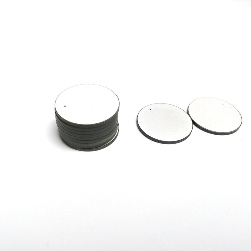 piezoceramic disk thickness mode vibration ultrasonic piezo ceramic disc 1 mhz pzt material