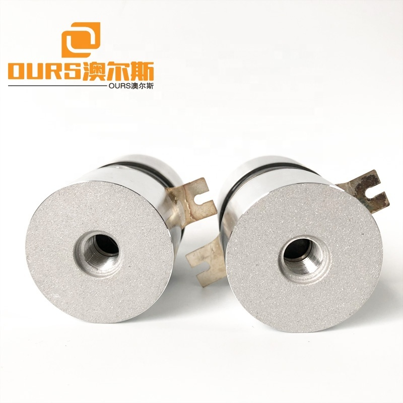 Low Heat High Frequency 130khz Ultrasonic Transducer  50W For Cleaning Machine