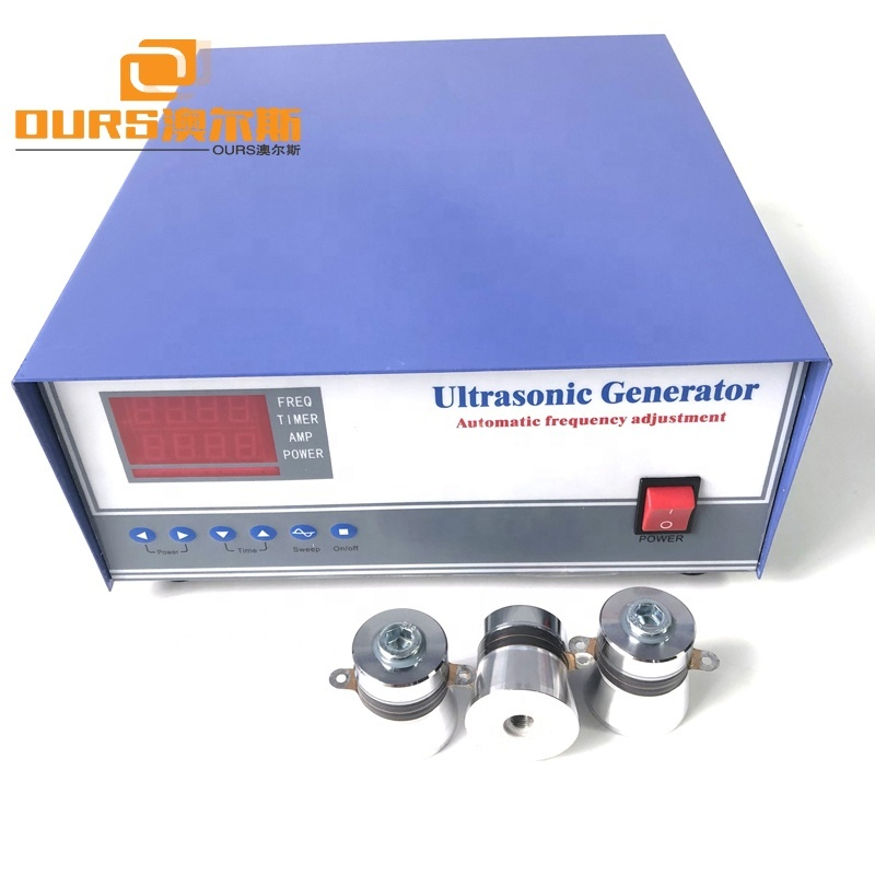 Frequency Ajustable Ultrasonic Generator Power Supply 40KHz For Cleaning Tank Auto Parts